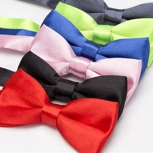 Boys Solid color bow tie, youth, adjustable to ad